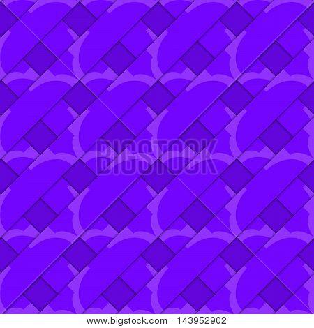 Retro 3D Purple Stripes Crossed