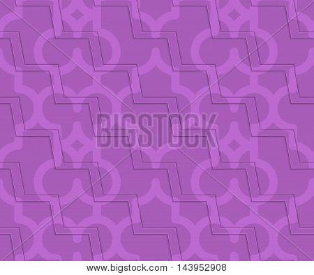 Retro 3D Purple Zigzag Cut Marrakech