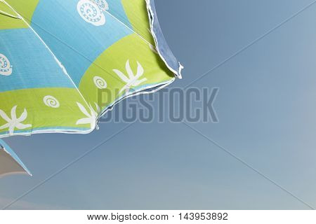 Umbrella Beach With Clear Sky In Sunny Day And Ocean
