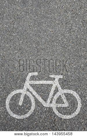 Bike Lane Path Way Cycle Bicycle Road Traffic Copyspace Copy Space