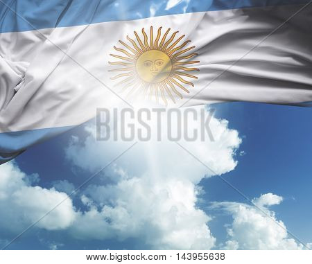 Argentina flag on a beautiful day