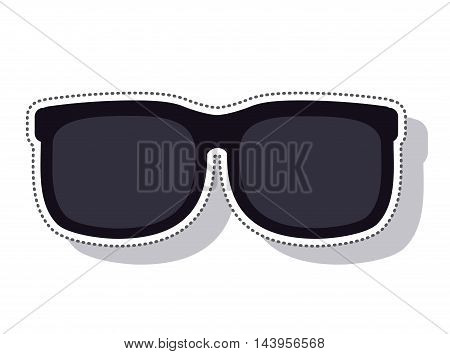 sunglasses black isolated icon vector illustration design