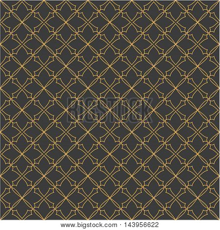 The pattern with decorative ornament on brown background. Vector.