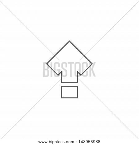 Vector illustration of shift icon on the white background