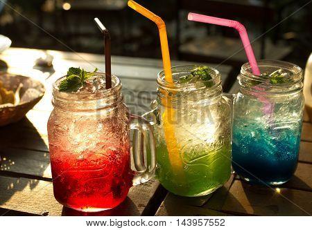 Juice Soda In Evening.