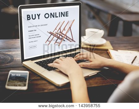 Shopping Online Shopaholics E-Commerce E-Shopping Concept