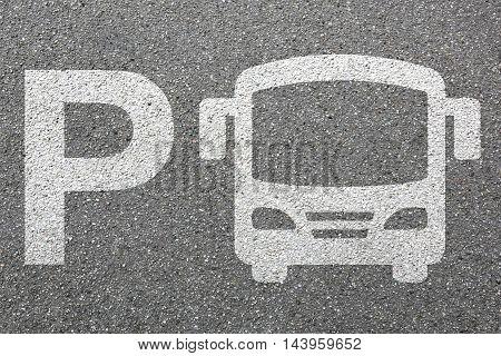 Parking Lot Sign Bus Coach Park Traffic Town City Mobility