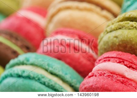 Set of delicious macaroons