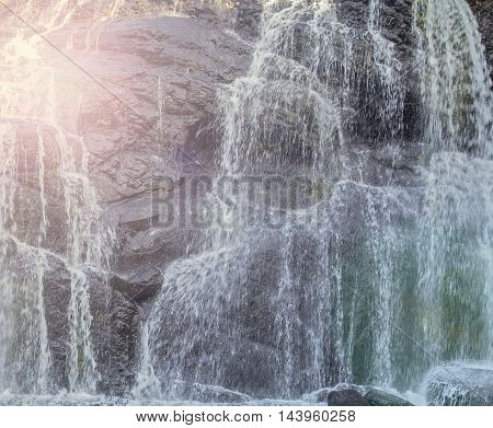 Baker's Falls Is A Famous Waterfall In Sri Lanka.