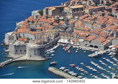 Dubrovnik Croatia - June 20th 2016. The historic old town of Dubrovnik on Croatia's Adriatic coast.