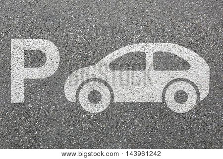 Parking Lot Sign Car Park Vehicle Street Road Traffic City Town Mobility