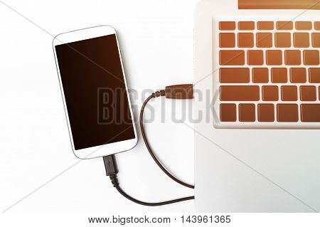 View of a Laptop in high definition and mobile.