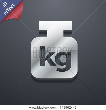 Weight Icon Symbol. 3D Style. Trendy, Modern Design With Space For Your Text Vector