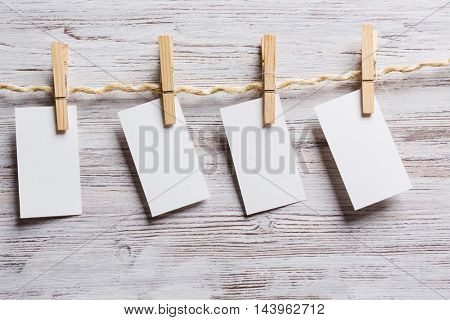 Paper hang on clothesline