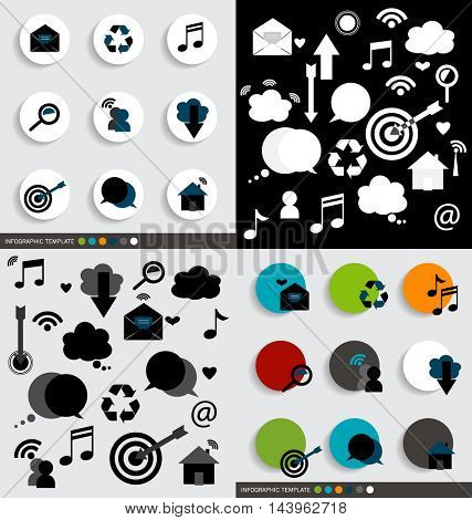 Application icons design. Vector illustration
