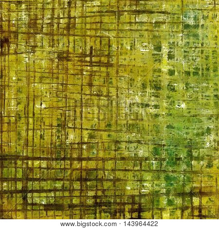 Aged vintage background with weathered texture, grunge design elements and different color patterns: gray; green; yellow (beige); brown