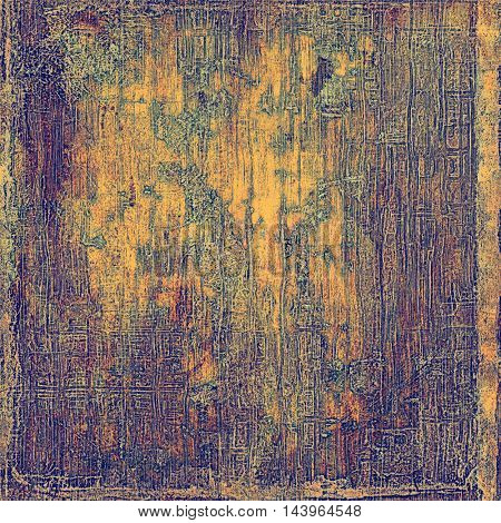Art grungy texture, aged background with retro feeling. With different color patterns: gray; blue; purple (violet); yellow (beige); brown; pink