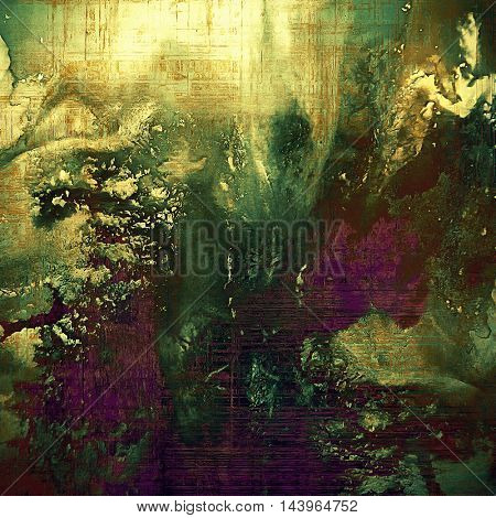 Old crumpled grunge background or ancient texture. With different color patterns: gray; green; purple (violet); yellow (beige); brown; pink