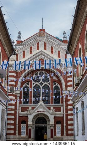 View of Synagogue in Brasov city in Romania