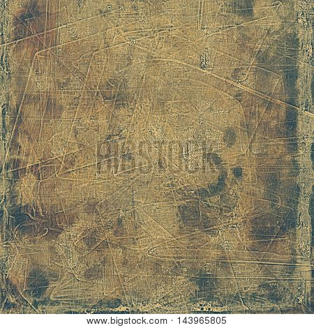 Background with dirty grunge texture, vintage style elements and different color patterns: gray; yellow (beige); brown; black