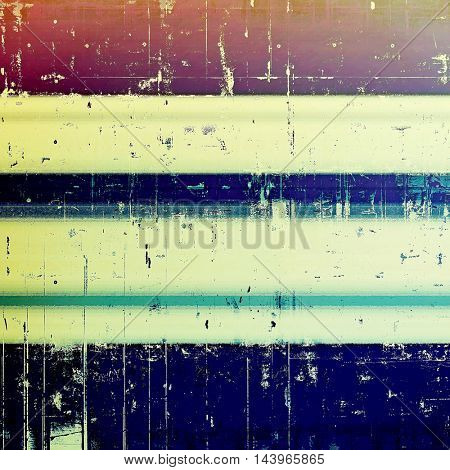 Vintage elegant background, creased grunge backdrop with aged texture and different color patterns: blue; red (orange); purple (violet); yellow (beige); brown; cyan