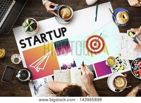 Goals Target Startup Launch Success Brand Concept