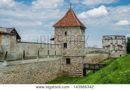Carpenters tower - part of old walls in Brasov Romania