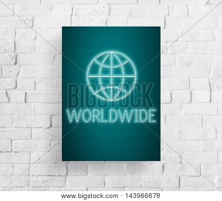Global Worldwide Connection World International Concept