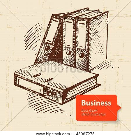 Hand drawn business background sketch vector illustration