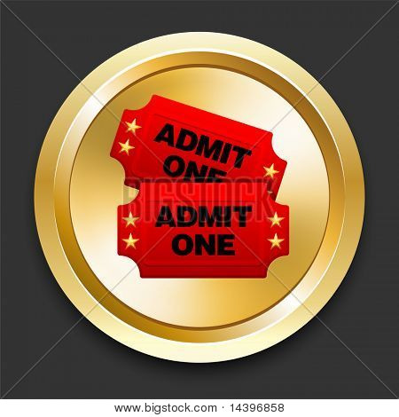 Admission Tickets on Golden Internet Button Original Illustration