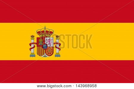 Flag of Spain vector international sign symbol