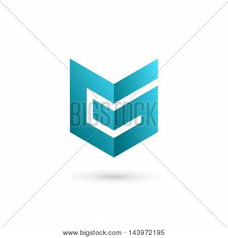 Letter G Number 6 Shield Logo Icon Design Template Elements