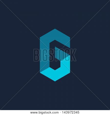 Letter G Number 6 Technology Logo Icon Design Template Elements