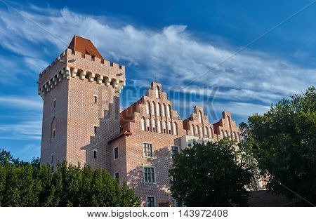 Tower reconstructed royal castle in Poznan in Poland