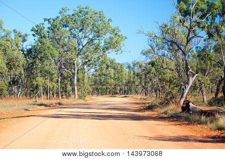 O'Brien's Creek Rd near Mount Surprise in Queensland, Australia