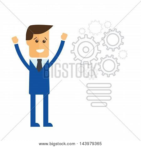 Completing Idea. Business illustration vector eps 10