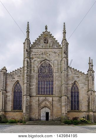 The beautiful St. Malo church is one of the finest examples of ecclesiastical architecture in the town of Dinan in Brittany.