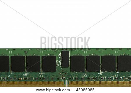 RAM or memory chip for computer on white background