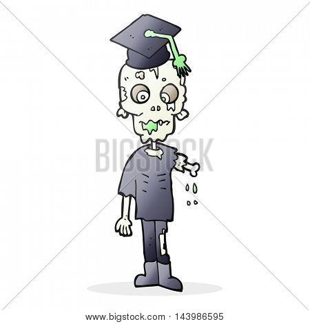 freehand drawn cartoon zombie student
