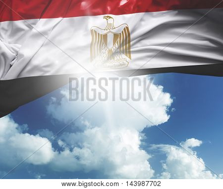 Egypt flag on a beautiful day