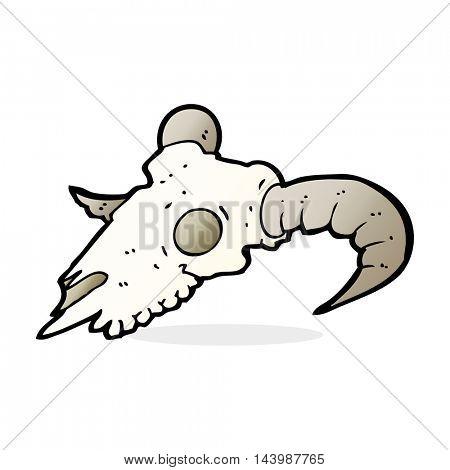 cartoon ram skull