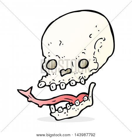 cartoon spooky skull