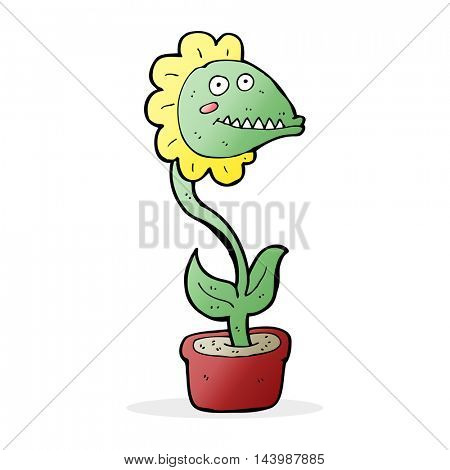 cartoon monster plant