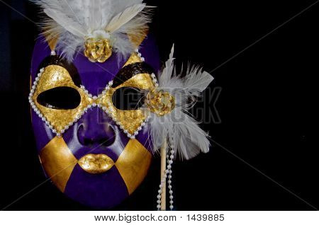 Purple And Gold Mask