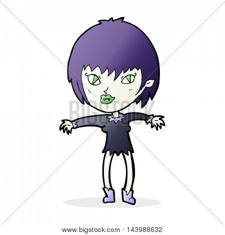 cartoon vampire girl