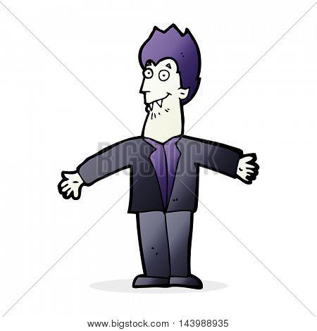 cartoon vampire man