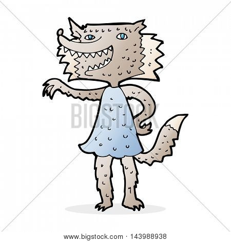 cartoon wolf girl