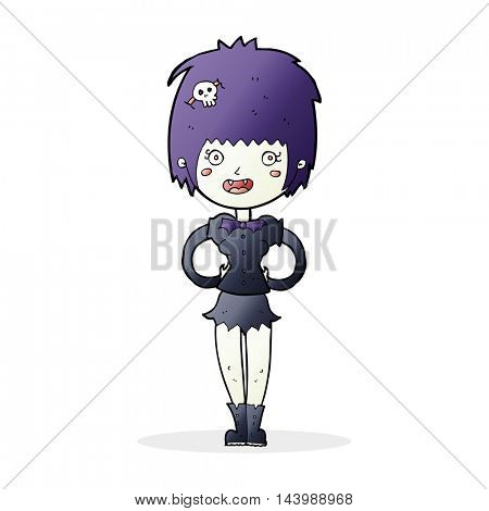 cartoon happy vampire girl