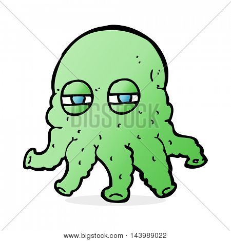 cartoon alien face