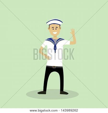 Sailor Man. Vector Illustration